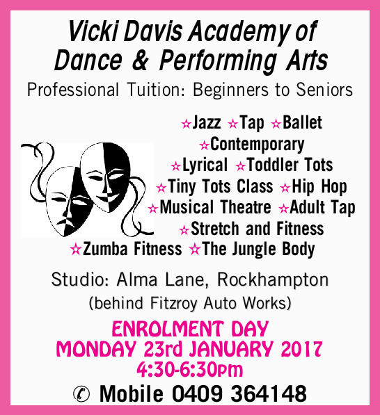 Vicki Davis Academy of Dance & Performing Arts Professional Tuition: Beginners to Seniors Jaz...