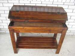 Wooden stand for 3' fish tank with matching hood, lighting unit, heater, filter + accessories.