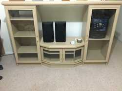 Entertainment unit television cabinet in good condition.
