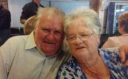 Congratulations on your 50 th Wedding Anniversary lots of love always  Megan & Gary , Dene and all y...
