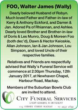 FOO, Walter James (Wally)