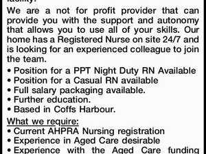 Registered Nurse - Night Duty