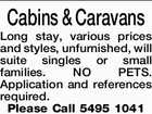 Cabins & Caravans Long stay