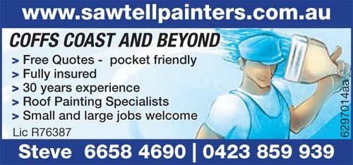 SAWTELL PAINTERS   www.sawtellpainters.com.au    Free Quotes  pocket friend...