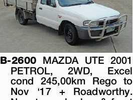 B-2600 MAZDA UTE 2001