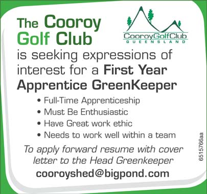 The Cooroy Gold Club is seeking expressions of interest for a