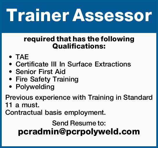 Trainer Assessor