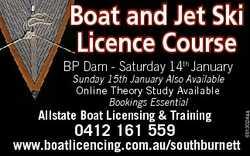 Boat and Jet Ski Licence Course BP Dam - Saturday 14th January Allstate Boat Licensing & Trainin...