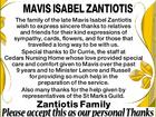 Mavis Isabel Zantiotis