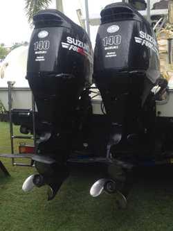 2003 8m Sea Fox with Twin 140hp 4 stroke Suzuki Outboard Motors. Large screen Furino Depth Sounder &...