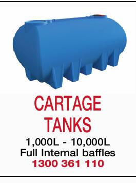 CARTAGE TANKS   1,000L - 10,000L   Full Internal baffles   1300361110