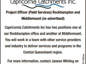 Project Officer (Field Services) - Multiple Areas