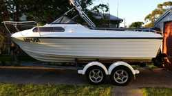 Yaltacraft Odessa 189. Totally reliable. All set up for fishing. Cuddy cabin for storage & sleeping...