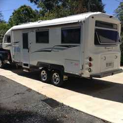 TRAVEL Home, Macquarie 25, annex, ensuite, a/c, solar, 150ltr fridge, emmac $62500 tow vehicle av...