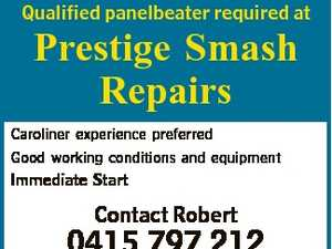 Qualified panelbeater required at Prestige Smash Repairs Caroliner experience preferred Good working conditions and equipment Immediate Start Contact Robert 0415 797 212