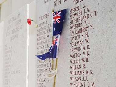 Names on the memorial at Lone Pine.