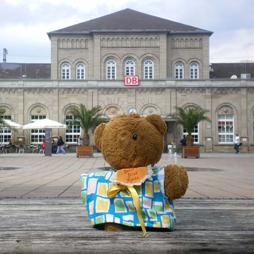 Have you seen this intrepid traveller? A lost Australian teddy bear has launched a police search in central Germany. Photo:EuroPics