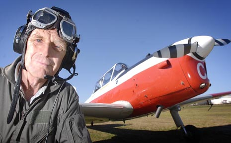 Pilot Tom Redwood enjoys taking his Chipmunk aircraft for flights above Toowoomba.
