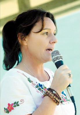 Protest organiser Cheryl Johnston