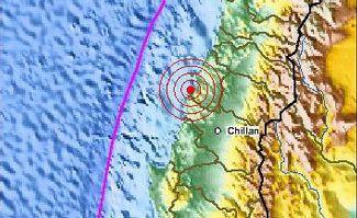 Massive earthquake recorded off the coast of Chile.