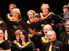 The Mackay Choral Society choir, conducted by Kim Kirkman at the 85th North Queensland Eisteddfod.