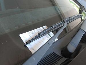 Driver leaves wipers on to avoid ticket
