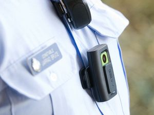 The body-worn audio and video recorder affixes to the front of taser-qualified police officers in Toowoomba.