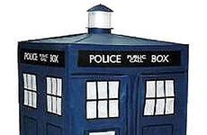 The TARDIS wardrobe, for Dr Who fans everywhere.