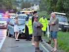 Car accident north of Yandina involving two cars with three children involved.