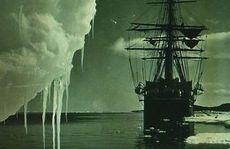 The Terra Nova at the ice foot, Cape Evans, New Zealand, January 16, 1911.