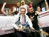 AN ELECTRIC guitar, dyed hair, punk rockers and art gallery co-ordinators ... this wasn't your normal Monday afternoon meeting at Mayor Paul Pisasale's office.