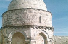 The Chapel of Ascension in Jerusalem.