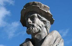 A bust of Magellan sits alongside the strait that bears his name at Punta Arenas.
