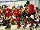Three-way roller derby battle