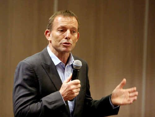 GOING SWIMMINGLY: Opposition leader Tony Abbott's arrival this afternoon has pitched the Fraser Coast on to the national stage once again.