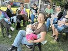 Mums take stand for breastfeeding