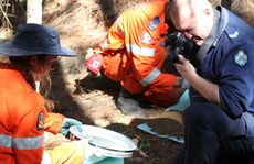 Police photograph the search for remains of Daniel Morcombe.