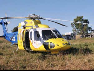 The RACQ Capricorn Rescue Helicopter conducts one rescue flight a day on average, but future funding could curtail that service.