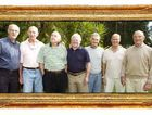From left is Jim Webster, John O'Gorman, Peter Johnson, Tony Moore, John Brass, Paul Gibbs and Jim Lenehan.