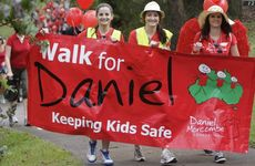Almost 2000 people joined the Walk for Daniel from Woombye to Palmwoods this morning with Bruce and Denise Morcombe. Photo: Cade Mooney