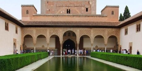 The Alhambra's old palaces, with their exquisite arabesques, are the jewel of Granada.