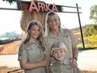 Terri, Bindi and Robert Irwin at the opening of Africa.