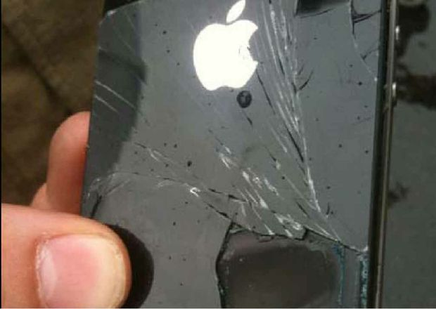 The Apple iPhone, which caught fire during a domestic flight from the North Coast.