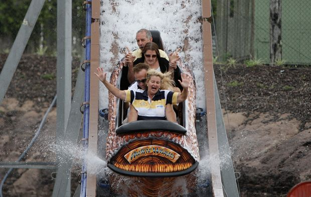 Aussie World launched its new ride, The Plunge.