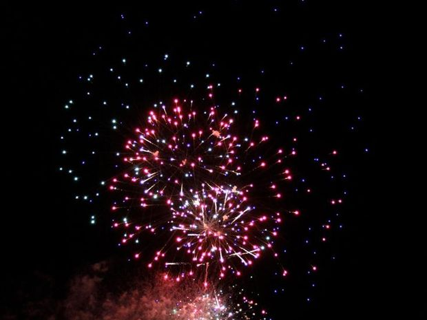 Cartia Moore snapped these great photos of the fire works at Mooloolaba on New Year's Eve.