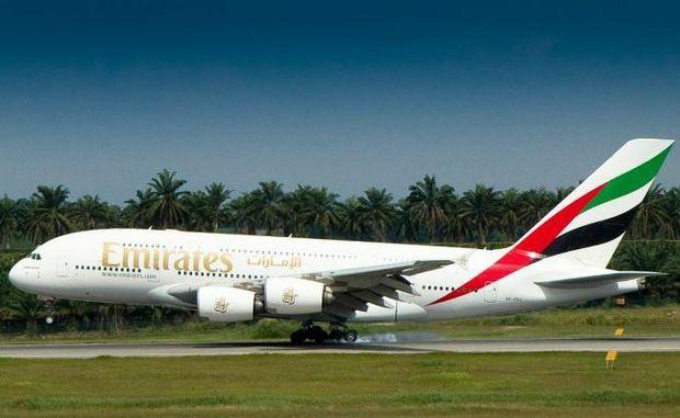 Emirates Flight 247 arrives in Rio de Janeiro.