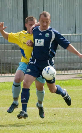 Russell Miner, pictured playing for Enfglish clib Bedford Town last year, has linked with the Queensland Lions for the 2012 Premier League season.