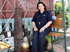 Beerwah Recycling Market manager Trish Cashin takes a break in the Recycled Garden.