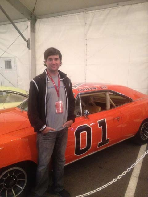 Bubba Watson with 'General Lee'.