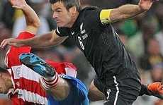 Ryan Nelsen in action at the World Cup.